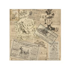 Vintage newspaper  Small Satin Scarf (Square)