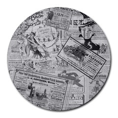Vintage newspaper  Round Mousepads