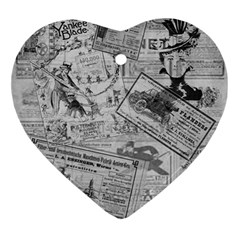 Vintage newspaper  Ornament (Heart)
