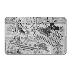 Vintage newspaper  Magnet (Rectangular)