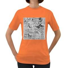 Vintage newspaper  Women s Dark T-Shirt