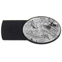 Vintage newspaper  USB Flash Drive Oval (4 GB)