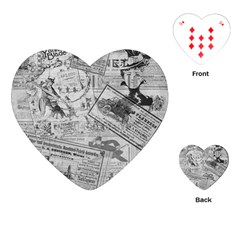 Vintage newspaper  Playing Cards (Heart)