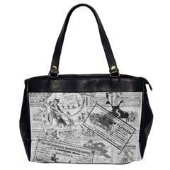 Vintage newspaper  Office Handbags (2 Sides)
