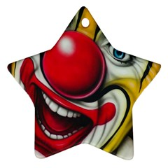 Clown Star Ornament (Two Sides)