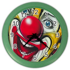Clown Color Wall Clocks