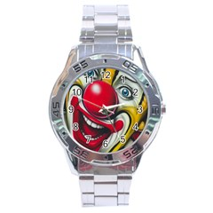 Clown Stainless Steel Analogue Watch