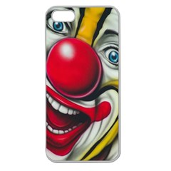 Clown Apple Seamless iPhone 5 Case (Clear)