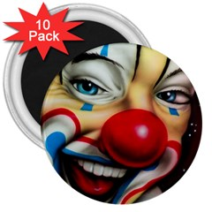 Clown 3  Magnets (10 pack)