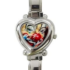 Clown Heart Italian Charm Watch
