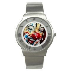 Clown Stainless Steel Watch