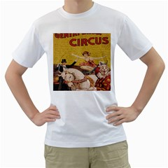 Vintage circus  Men s T-Shirt (White) (Two Sided)