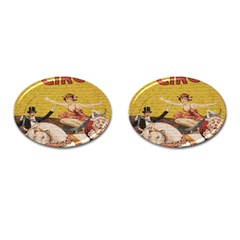 Vintage circus  Cufflinks (Oval)