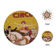 Vintage circus  Playing Cards (Round)