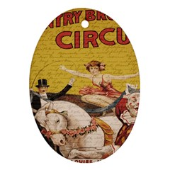 Vintage circus  Oval Ornament (Two Sides)