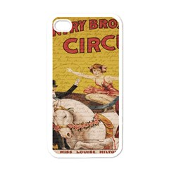 Vintage circus  Apple iPhone 4 Case (White)