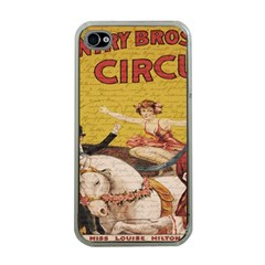 Vintage circus  Apple iPhone 4 Case (Clear)