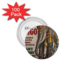 Vintage circus  1.75  Buttons (100 pack)