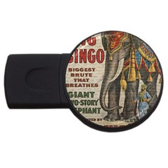 Vintage circus  USB Flash Drive Round (4 GB)