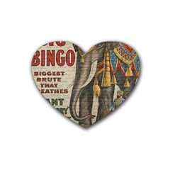 Vintage circus  Heart Coaster (4 pack)
