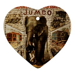 Vintage circus  Ornament (Heart)