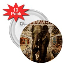 Vintage circus  2.25  Buttons (10 pack)