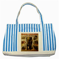 Vintage circus  Striped Blue Tote Bag