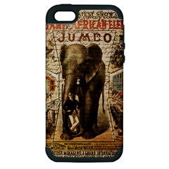Vintage circus  Apple iPhone 5 Hardshell Case (PC+Silicone)