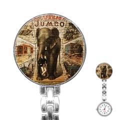 Vintage circus  Stainless Steel Nurses Watch