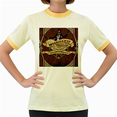 Vintage circus  Women s Fitted Ringer T-Shirts