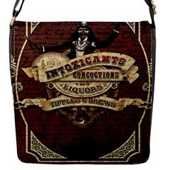 Vintage circus  Flap Messenger Bag (S)