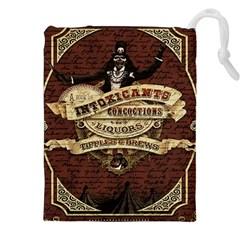 Vintage circus  Drawstring Pouches (XXL)