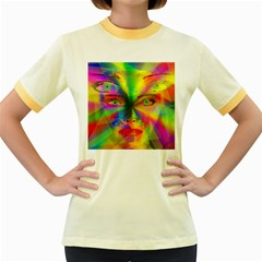 Rainbow girl Women s Fitted Ringer T-Shirts