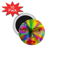 Rainbow girl 1.75  Magnets (10 pack)