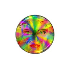Rainbow girl Hat Clip Ball Marker (4 pack)