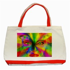 Rainbow girl Classic Tote Bag (Red)