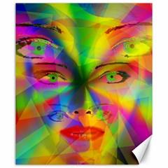 Rainbow girl Canvas 20  x 24