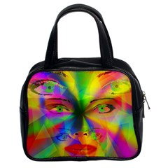Rainbow girl Classic Handbags (2 Sides)