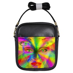 Rainbow girl Girls Sling Bags