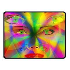 Rainbow girl Fleece Blanket (Small)