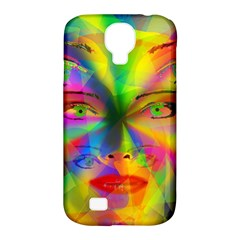 Rainbow girl Samsung Galaxy S4 Classic Hardshell Case (PC+Silicone)