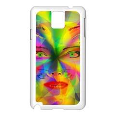 Rainbow girl Samsung Galaxy Note 3 N9005 Case (White)