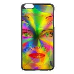 Rainbow girl Apple iPhone 6 Plus/6S Plus Black Enamel Case