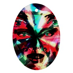 Abstract girl Ornament (Oval)