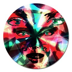 Abstract girl Magnet 5  (Round)