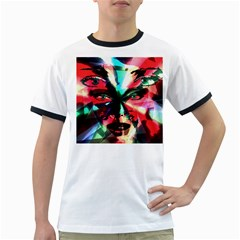 Abstract girl Ringer T-Shirts