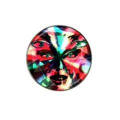 Abstract girl Hat Clip Ball Marker (4 pack)