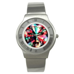 Abstract girl Stainless Steel Watch