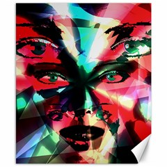 Abstract girl Canvas 8  x 10