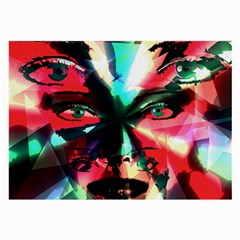 Abstract girl Large Glasses Cloth (2-Side)